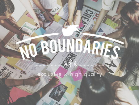 no boundaries: No Boundaries Global Business World Economics Concept