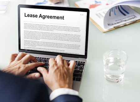 lease: Lease Renting Contract Residential Tenant Concept Stock Photo