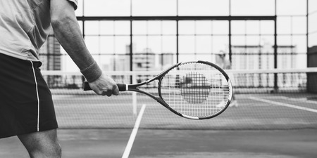 competitor: Tennis Players Competitor Training Concept