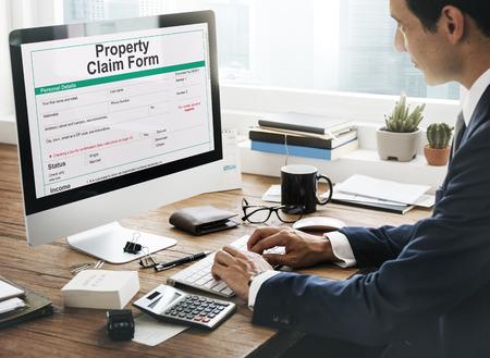 orden de compra: Reivindicación de la propiedad Formulario Hoja de sueldo Concepto Orden de Compra Foto de archivo