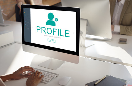 business media: User Account Profile Social Network Concept