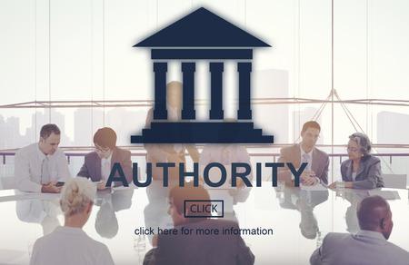 autoridad: Government Authority Law Pillar Graphic