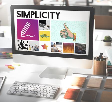 Computer Art Simplicity Working Concept
