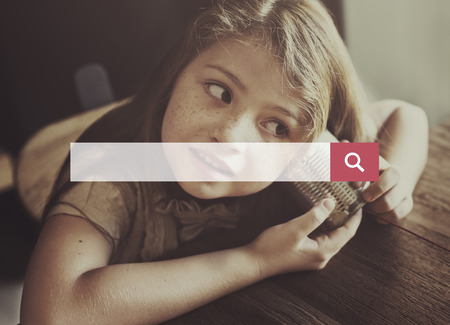 elementary age girls: Search Engine Optimization Searching Web Page Concept