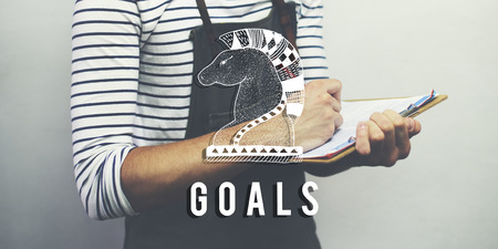 fillup: Goals Aim Believe Confidence Inspiration Target Concept Stock Photo