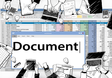 official record: Document Data Paper Database Concept