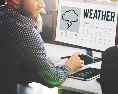 weather report: Forecast Overcast Weather Report Concept