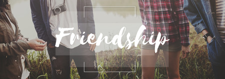 companionship: Friends Community Companionship Relationship Concept Stock Photo