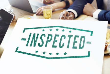 strategize: Inspected Classified Original Qualified Concept Stock Photo