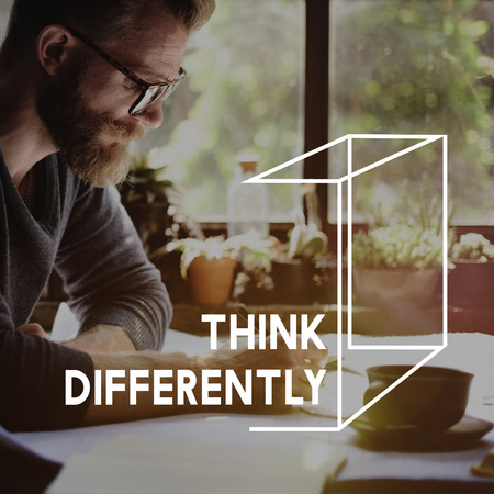 differently: Thinking Out Of The Box Concept
