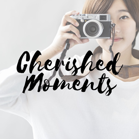 cherished: Cherished Moments Collect Experience Inspire Concept Stock Photo