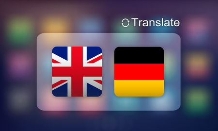 Flag Countries Foreign Word Translation Concept Stock Photo