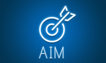 aspiration: Target Goals Aim Aspiration Focus Vision Graphic Concept