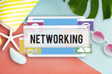 Communication Technology Online Networking Connection Concept Stock Photo