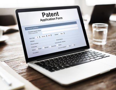 conept: Patent Protection Intellectual Property Conept Stock Photo