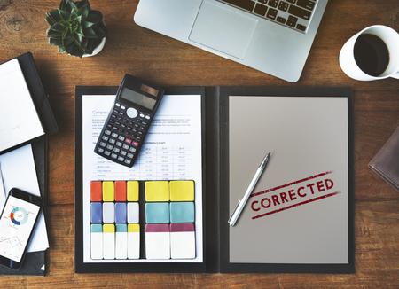 modificar: Método corregido Fix Resuelto Modificar Amend Concept
