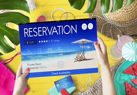 seating: Reservation Service Leisure Fine Booking Seating Concept Stock Photo