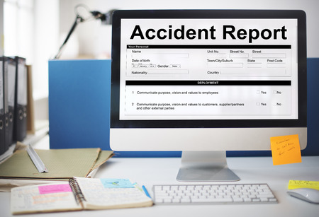 compensate: Accident Injury Report Form Information Concept Stock Photo