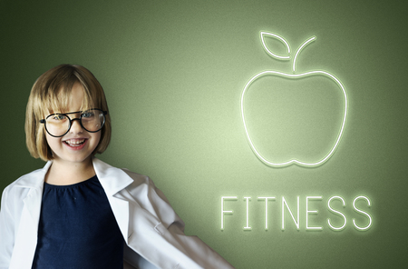 Child with fitness concept Imagens