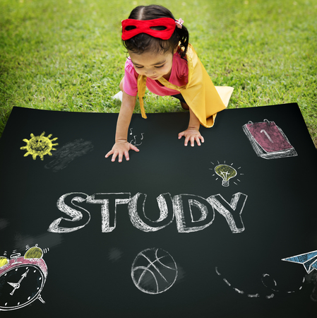 asian ethnicity: Study Ideas Learn Kids Concept Stock Photo