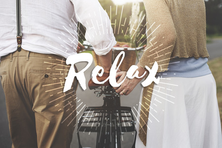 Relax Calm Chill Freedom Happiness Life Peace Concept Stock Photo