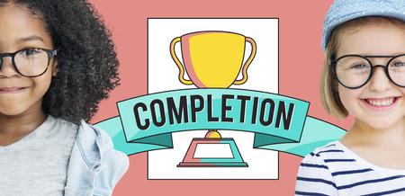 Children with completion concept Standard-Bild