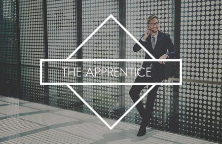 businessman waiting call: Apprentice Ability Skills Development Mentoring Concept