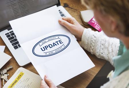 clavados: Update Development Fixed Forward Modern Better Concept Foto de archivo