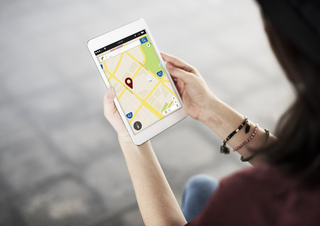 Navigation Services Place Location Concept Stock Photo
