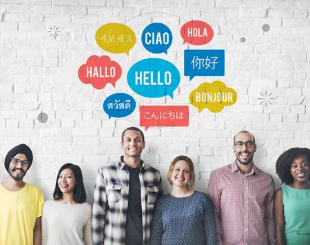 Different Language Speech Bubble Hello Concept Imagens - 63486551