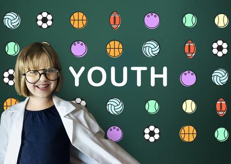geeky: Kids Games Ball Sport Graphics Concept