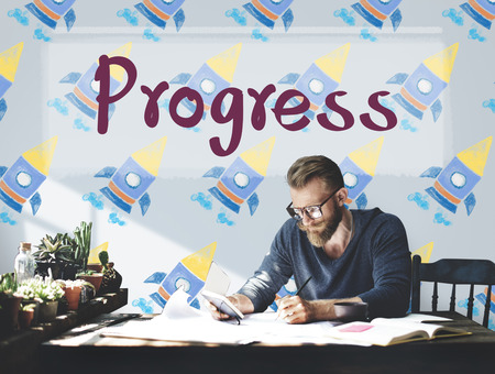better: Progress Development Better Change Concept