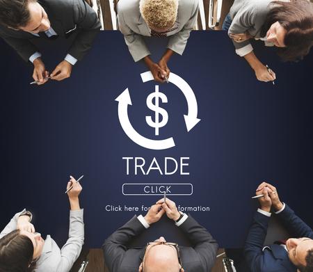 banco mundial: Economía Financiera Comercio Concepto Gráfico financiera Foto de archivo