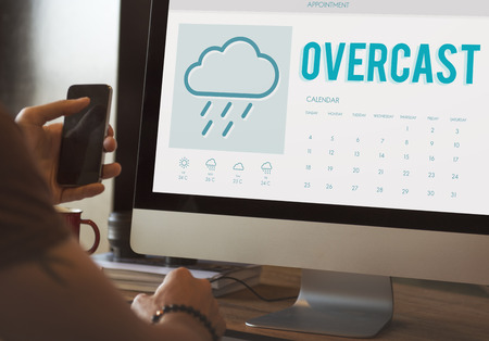 to foresee: Overcast Forecast Weather Rainy Cloud Concept
