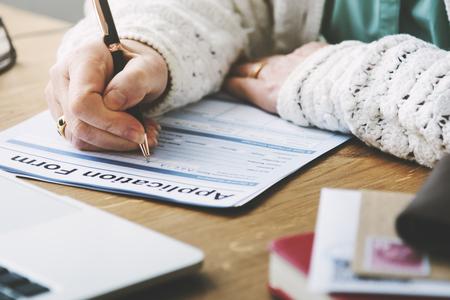 pensioner: Application Form Retirement Pensioner Senior Concept