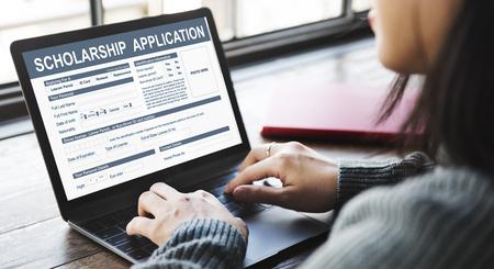 scholarship: Scholarship Application Form Foundation Concept