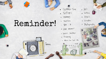 todo list: Reminder To-Do List Planner Information Concept