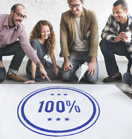 trustworthy: 100% Approved Guarantee Quality Certificate Trustworthy Concept