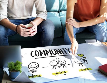 nonprofit: Charity Donations Fundraising Nonprofit Volunteer Concept