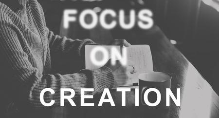determine: Focus On Aim Concentrate Target Determine Concept Stock Photo