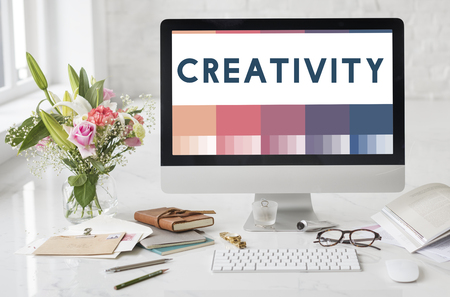 Create Creativity Ideas Design Concept Stock Photo