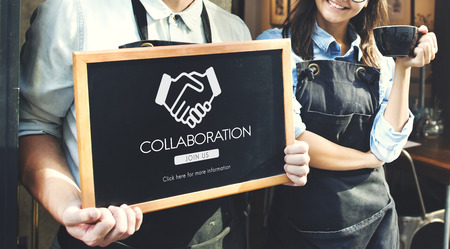 business graphics: Business Organization Handshake Graphics Concept