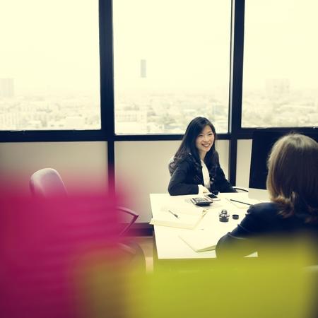 white collar: White Collar Worker Organization Meeting Office Concept