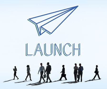begin: Launch Business Mission Startup Begin Mission Concept Stock Photo