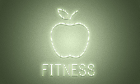 An apple with fitness concept