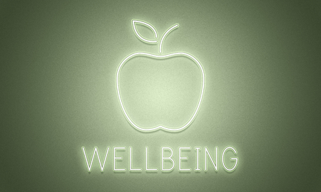 An apple with wellbeing concept