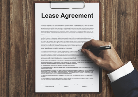 residential: Lease Renting Contract Residential Tenant Concept Stock Photo