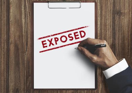 declarative: Exposed Disclosed Declarative Indicative Relating Concept Stock Photo