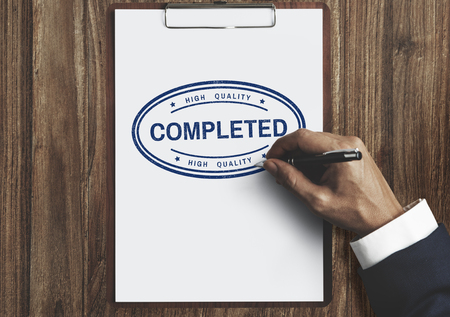 attainment: Completed Accomplishment Finished Achievement Concept