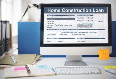 Concetto di costruzione di prestito protezione assicurativa